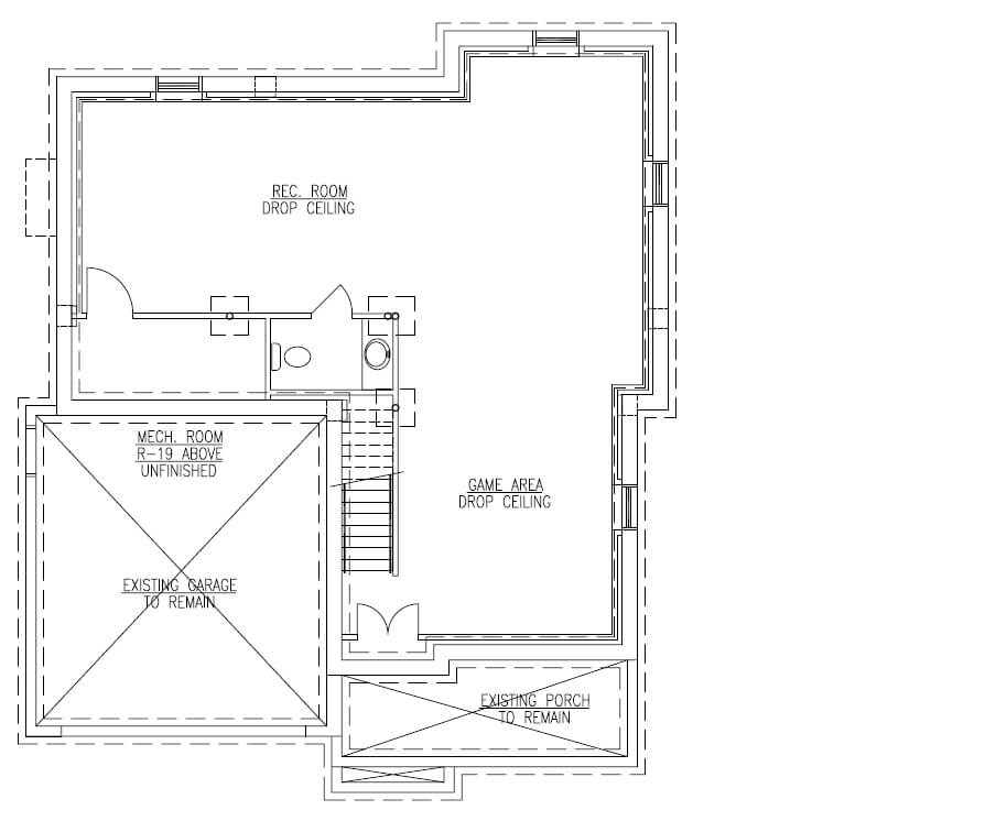 627 Leigh Basement Floor Plan