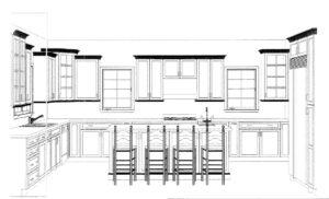 627 Leigh Drive, Westfield- Kitchen Elevation