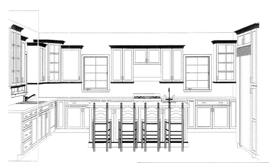627 Leigh Kitchen Elevation