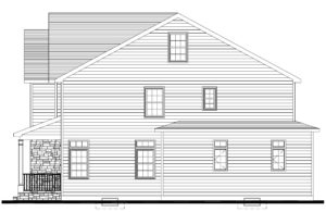 627 Leigh Drive, Westfield- Right Elevation