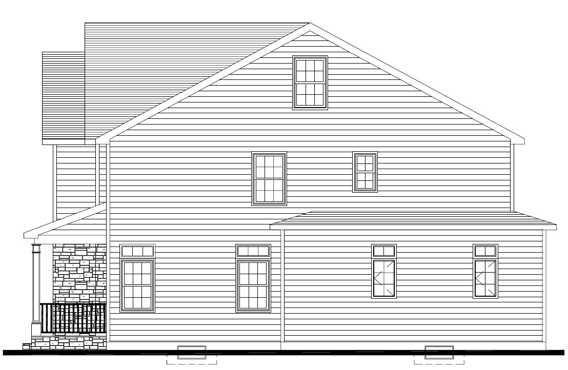 627 Leigh Right Elevation