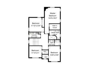 648 Maple Street, Westfield- 2nd Floor Plan