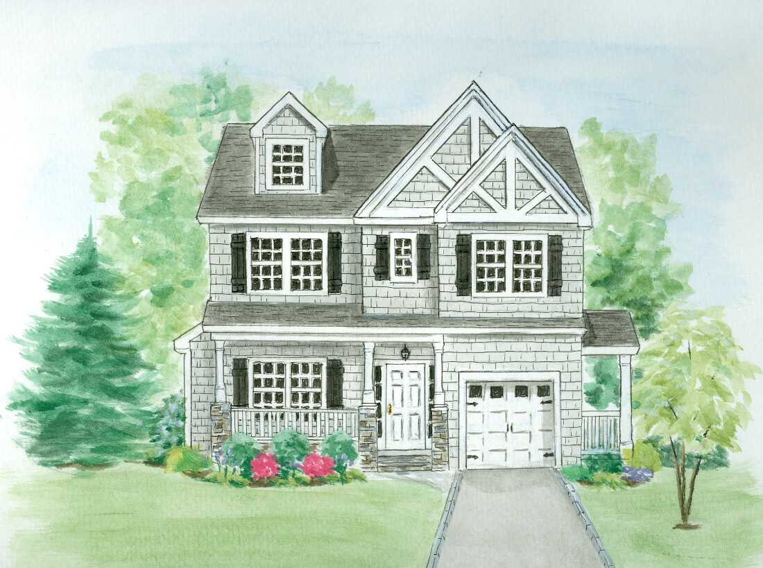 648 Maple Front Elevation Rendering