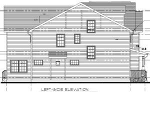 648 Maple Street, Westfield- Left Side Elevation