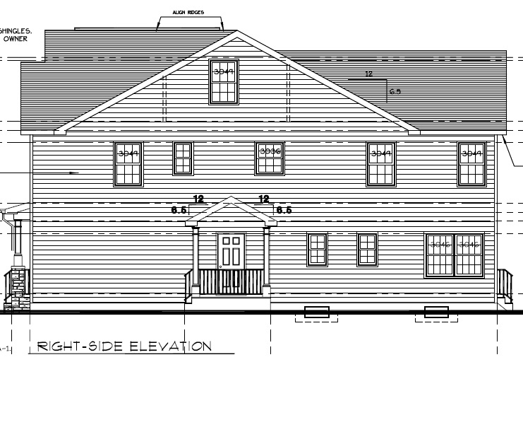 648 Maple Right Side Elevation