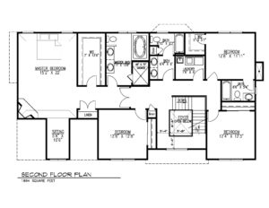670 Carleton Road, Westfield- 2nd Floor Floor Plan