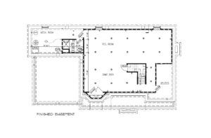 670 Carleton Road, Westfield- Basement Floor Plan