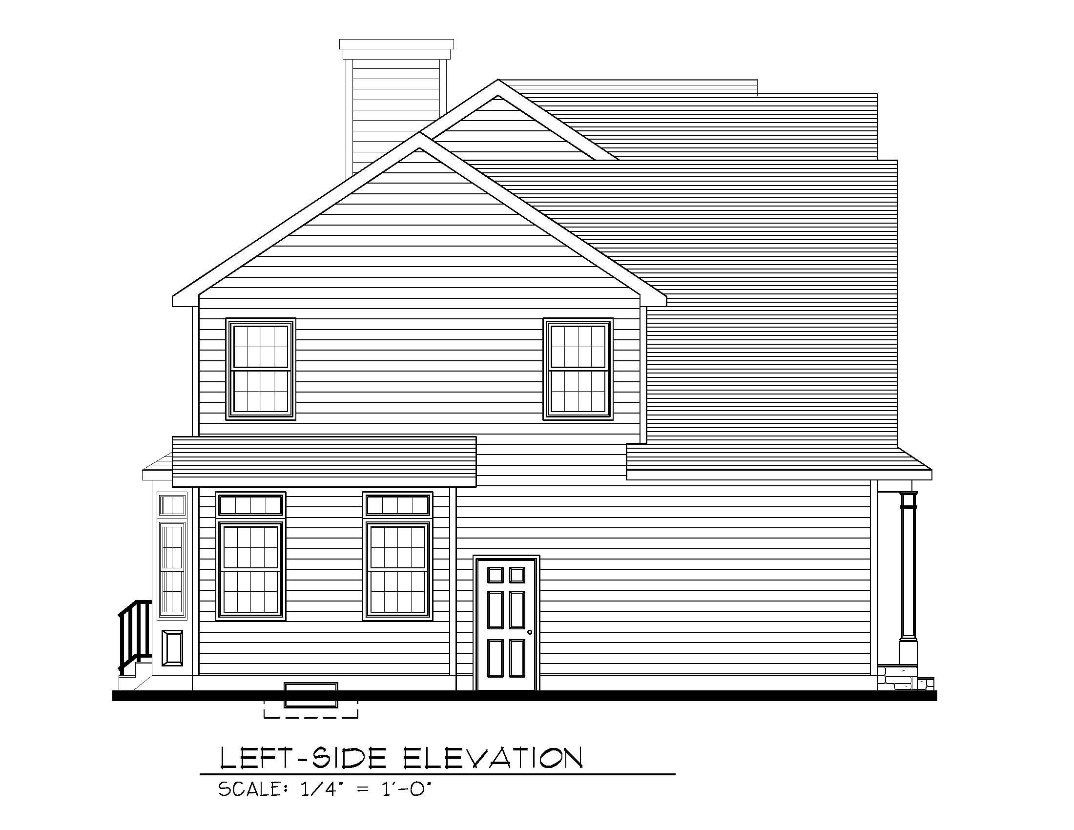 670 Carleton Left Side Elevation