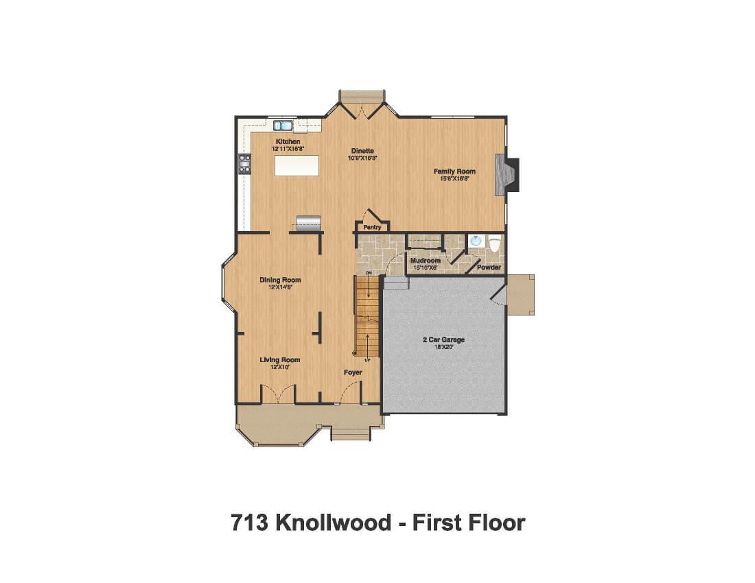 713 Knollwood 1st Floor Plan Color