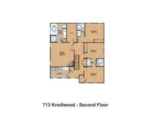 713 Knollwood Terrace, Westfield- 2nd Floor Plan Color
