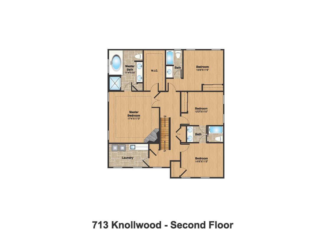 713 Knollwood 2nd Floor Plan Color