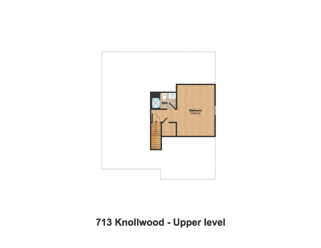 713 Knollwood Attic Floor Plan Color