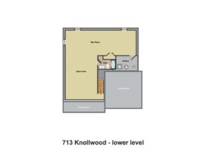 713 Knollwood Terrace, Westfield- Basement Floor Plan Color