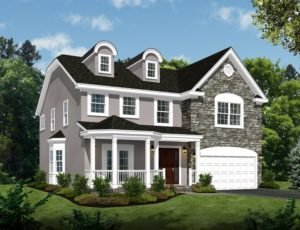 713 Knollwood Terrace, Westfield- Knollwood Front Color Rendering