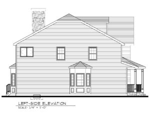 713 Knollwood Terrace, Westfield- Left Elevation