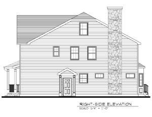 713 Knollwood Terrace, Westfield- Right Elevation