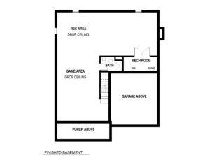 728 Harding St - Basement Floor Plan
