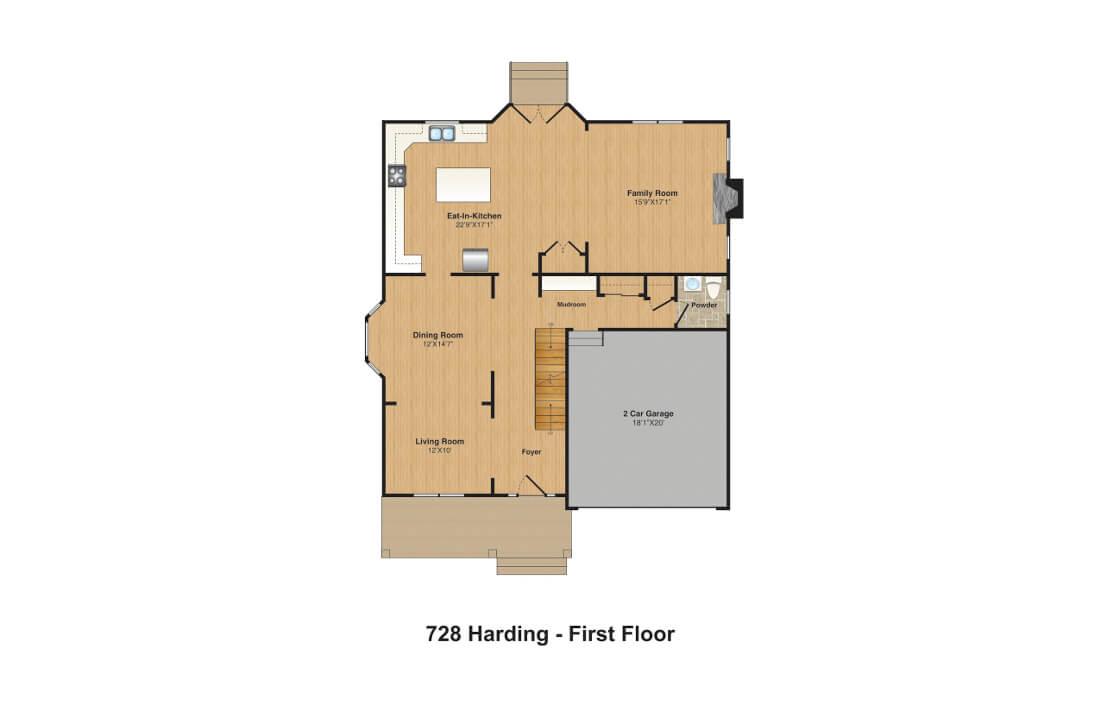 728 Harding FPs 1st floor