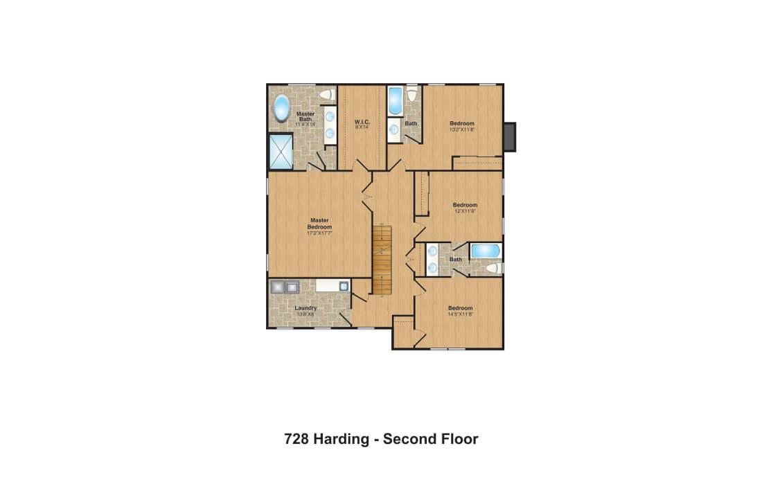 728 Harding FPs 2nd floor