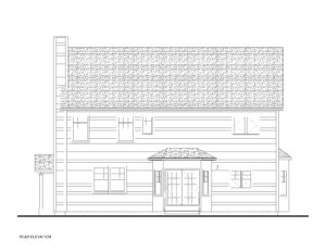 728 Harding - Rear Elevation