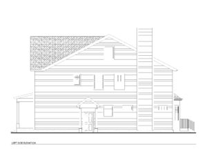728 Harding - Right Side Elevation