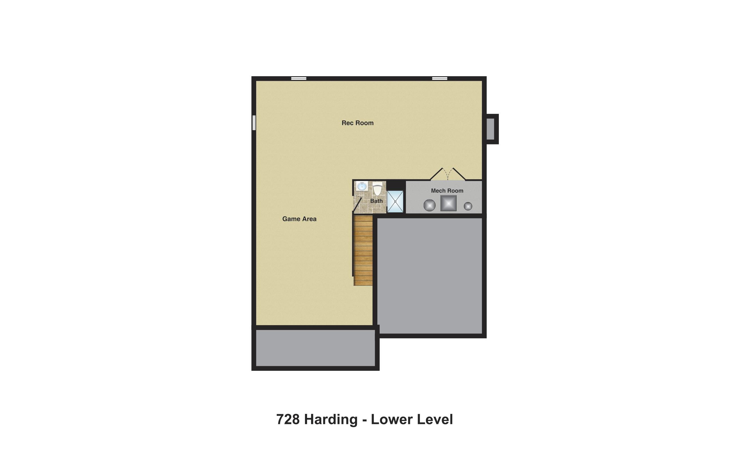 728 Harding basement