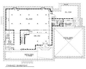 816 Knollwood Terrace, Westfield- Basement Floor Plan