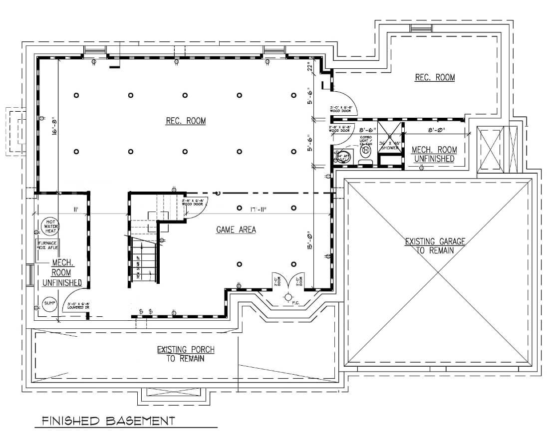 816 Basement Floor Plan