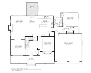 816 Knollwood Terrace, Westfield- First Floor Plan