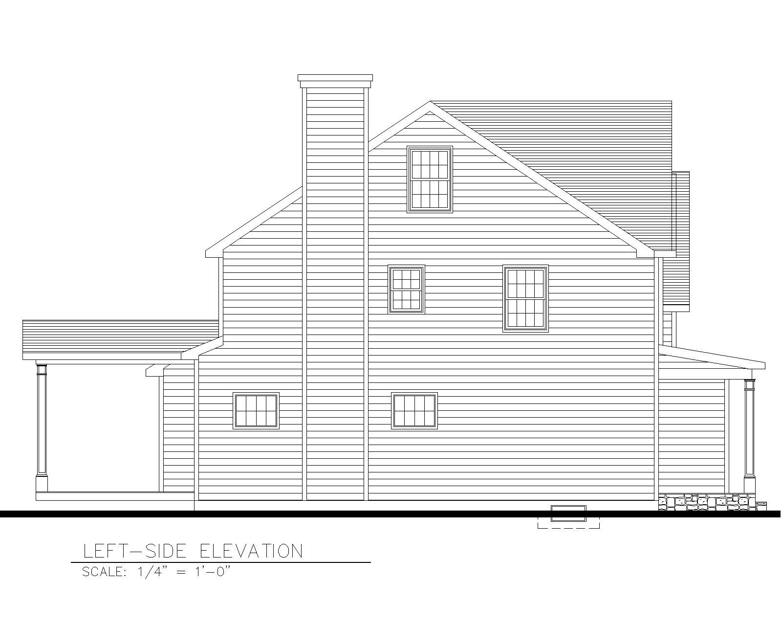 816 Left Side Elevation