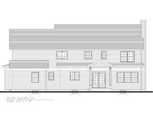 816 Knollwood Terrace, Westfield- Rear Elevation
