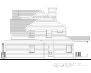 816 Knollwood Terrace, Westfield- Right Side Elevation