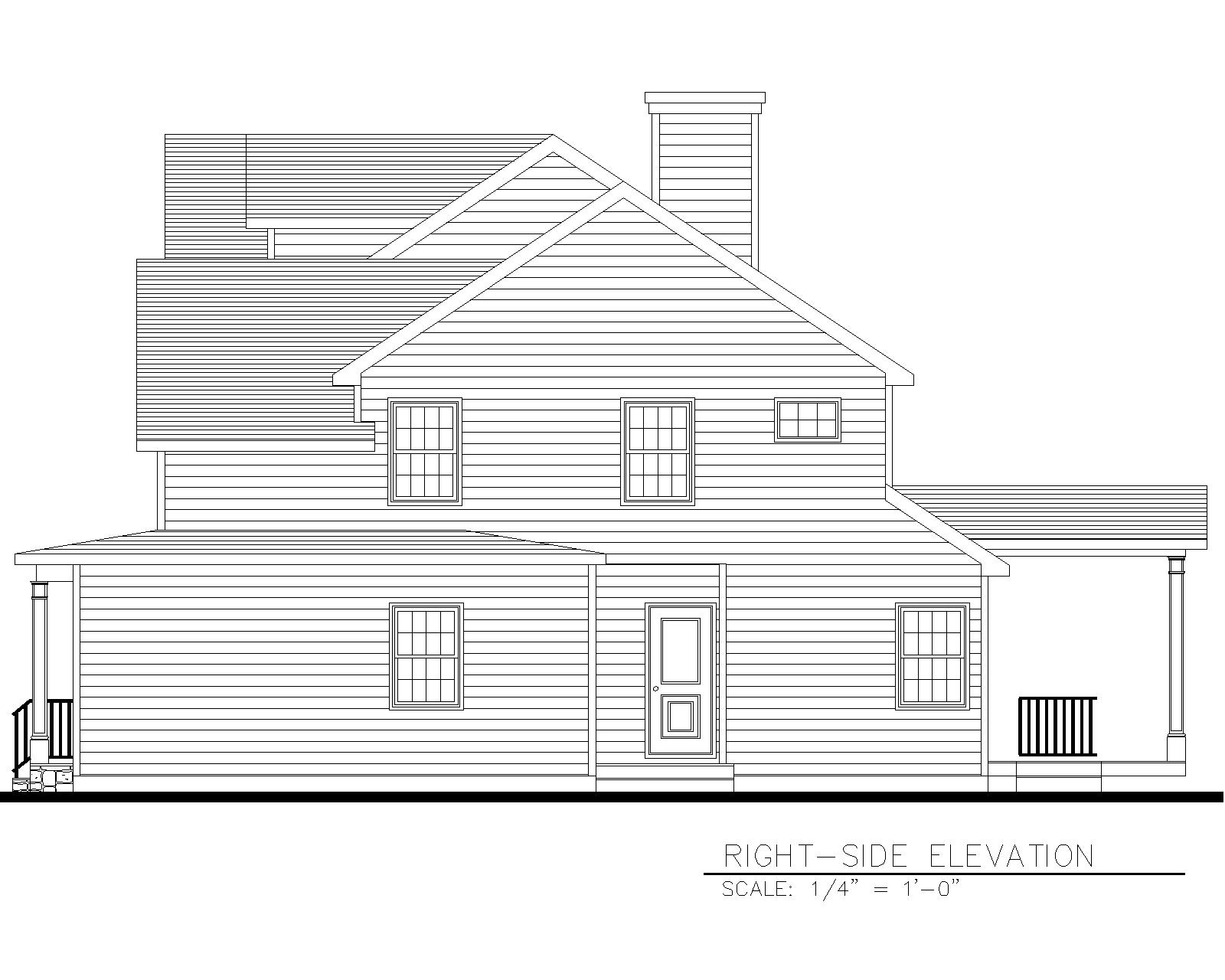 816 Right Side Elevation