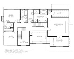 816 Knollwood Terrace, Westfield- Second Floor Plan