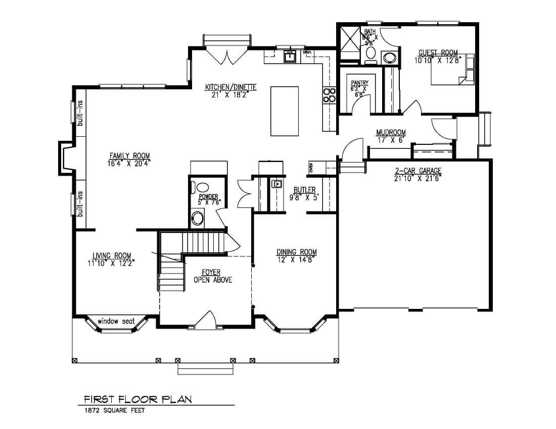 843 First Floor Plan