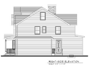 Right Elevation - 843 Nancy Way, Westfield