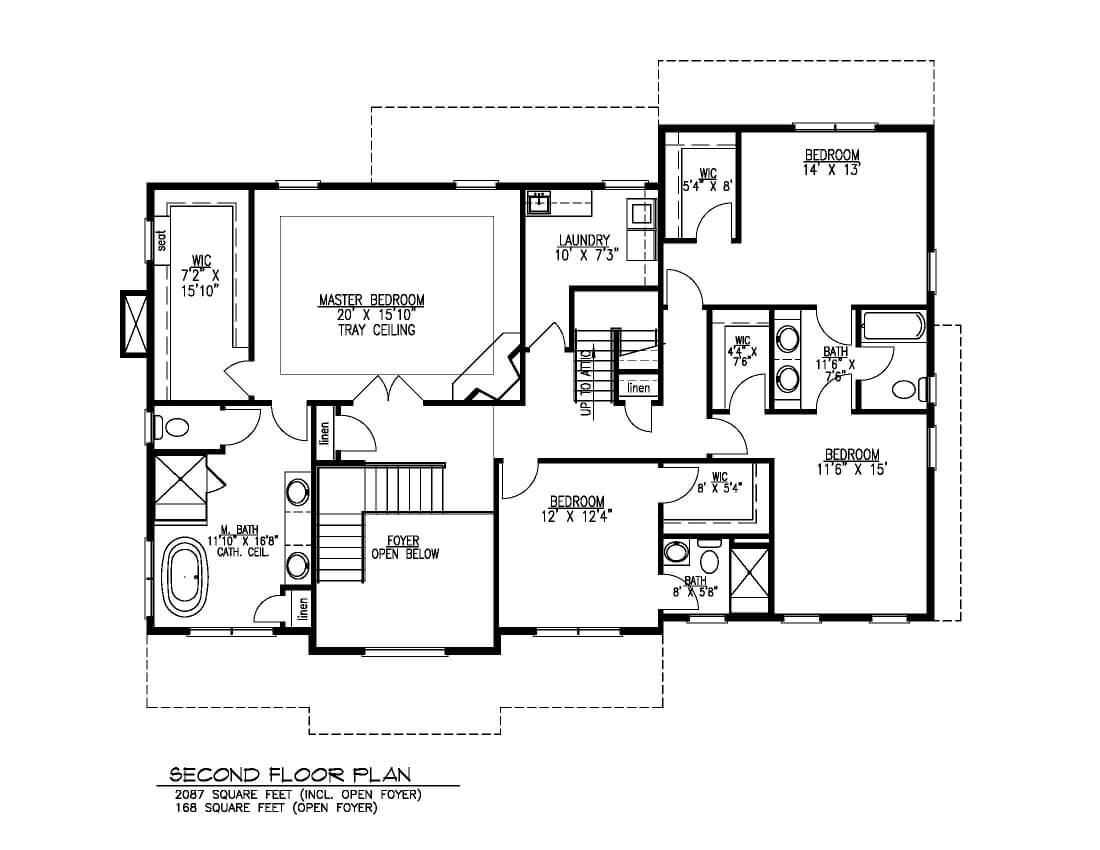 843 Second Floor Plan