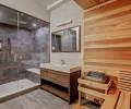 Basement Bathroom With Sauna and Steam Shower
