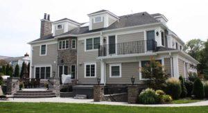 Custom Home Backyard in Westfield NJ