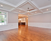 Family Room II with Coffer Ceiling