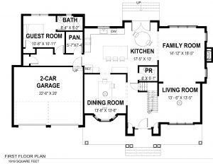 1st Floor Plan 728 Tamaques Way Westfield, NJ