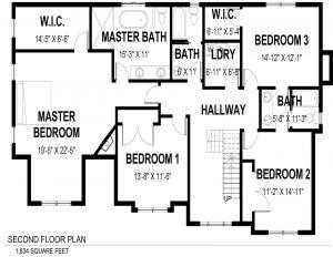2nd Floor Plan 728 Tamaques Way Westfield, NJ