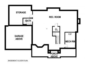 Basement Plan 728 Tamaques Way Westfield, NJ