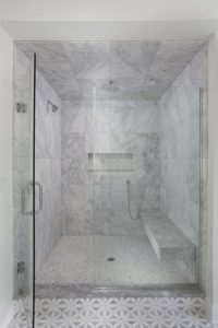Master Shower with Floating Bench