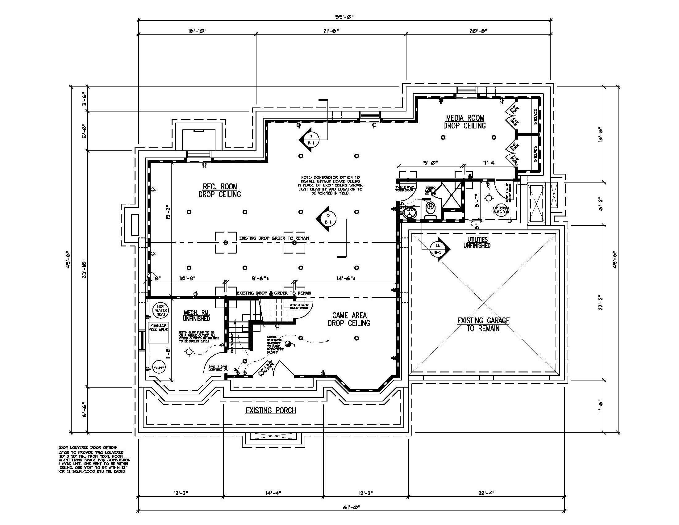 211 Golf Edge Basement Plan