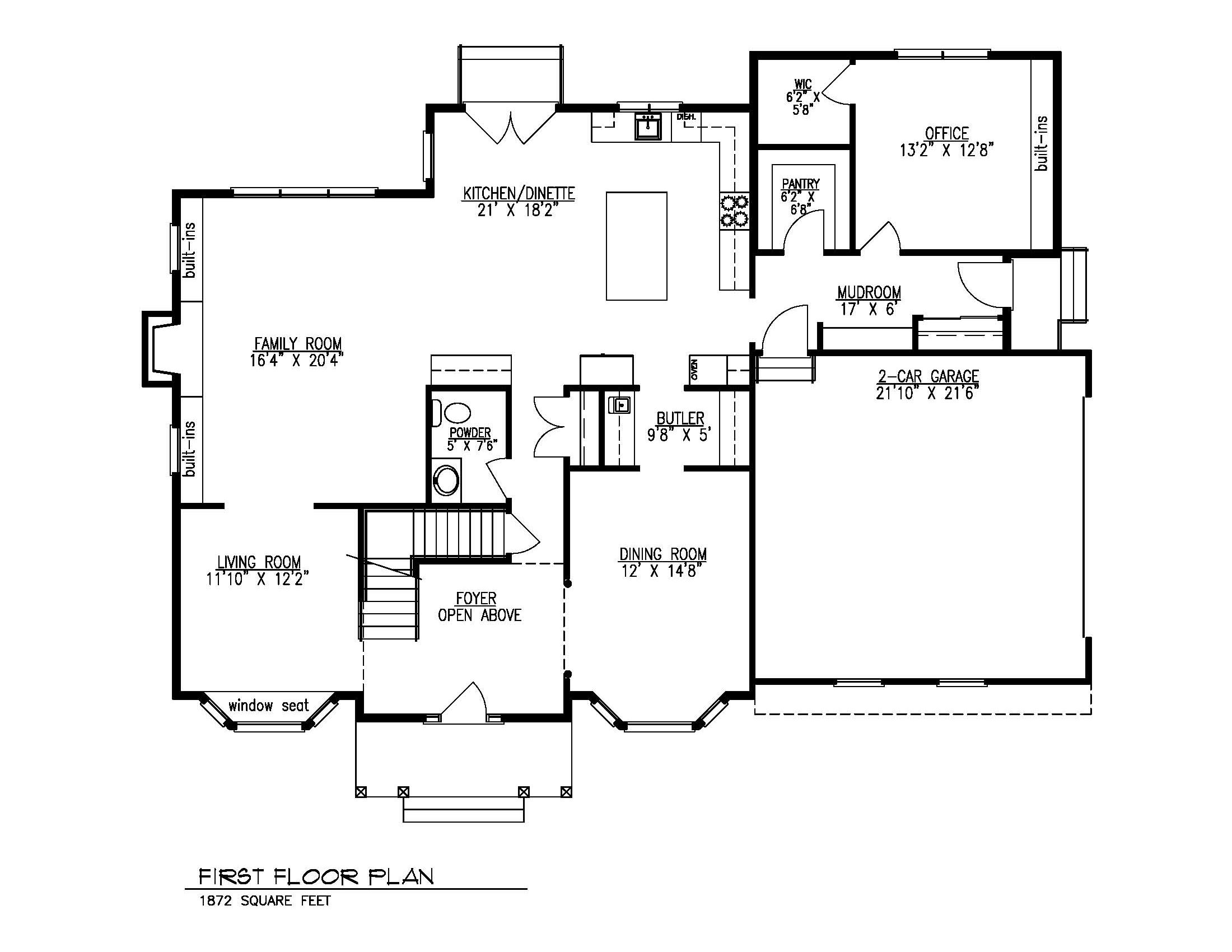 211 Golf Edge First Floor Plan