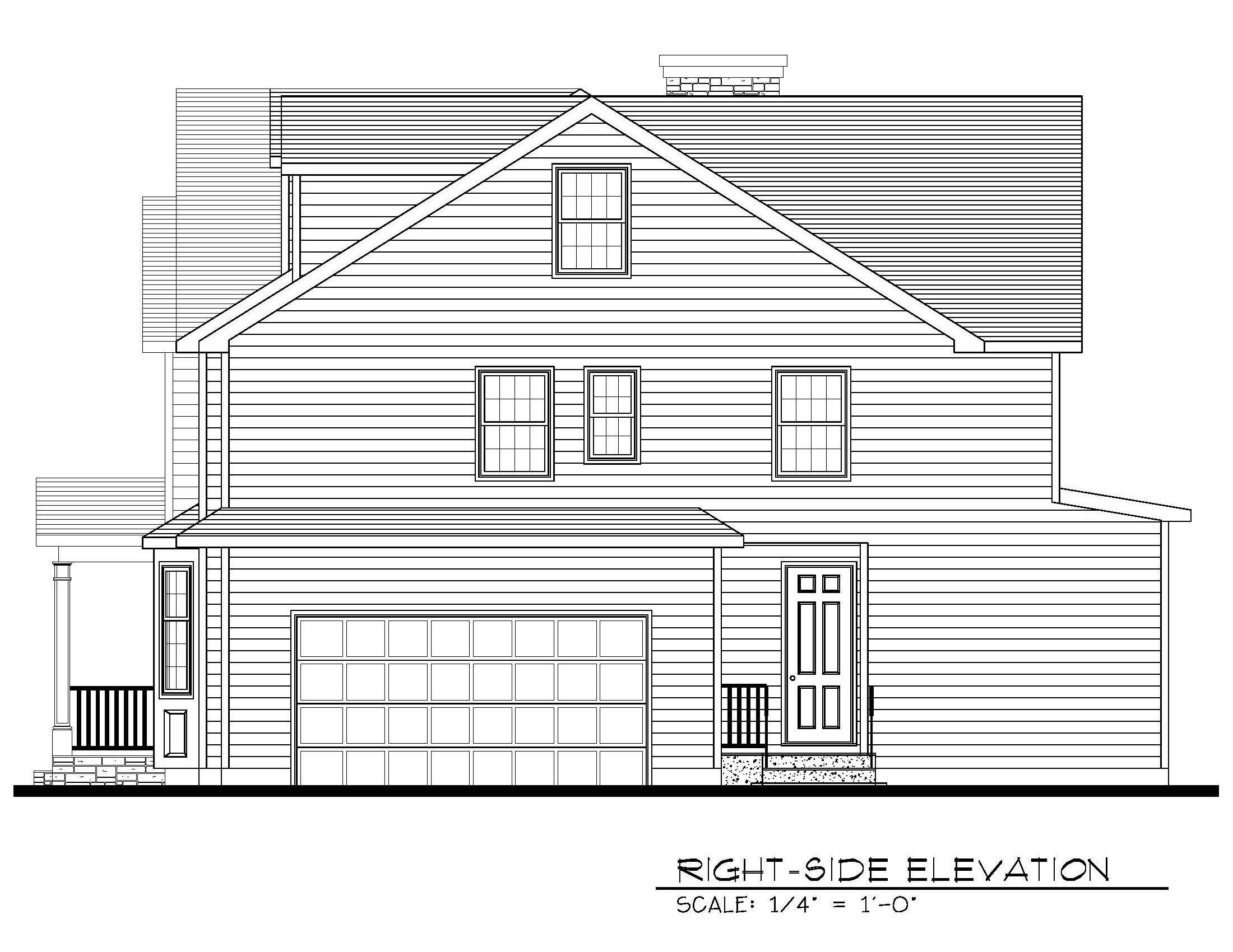 211 Golf Edge Right Side Elevation