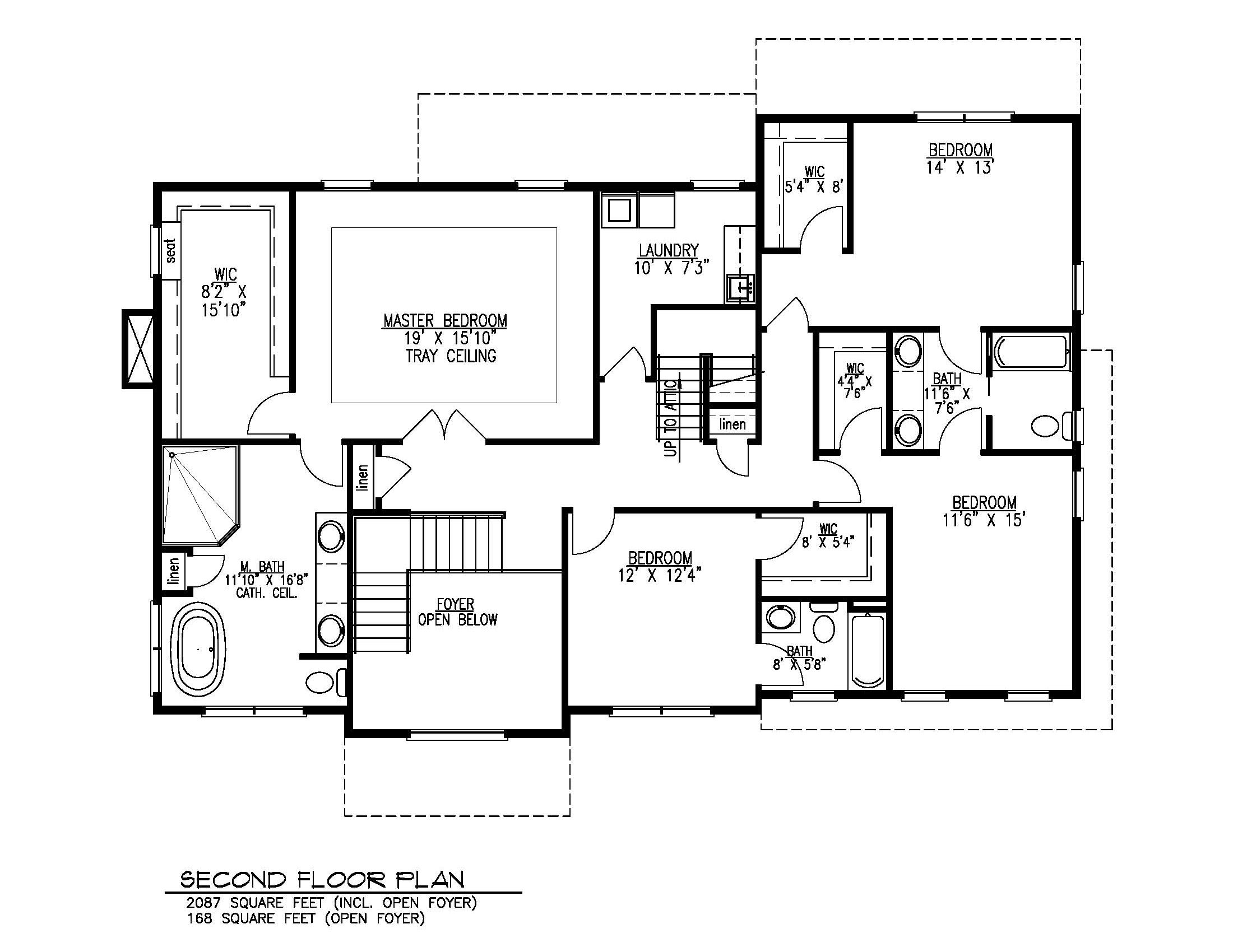 211 Golf Edge Second Floor Plan