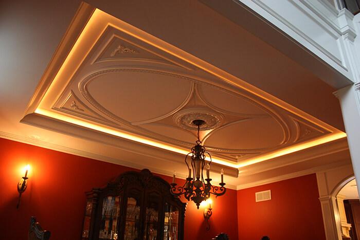 Tray Ceiling with Custom Lighting