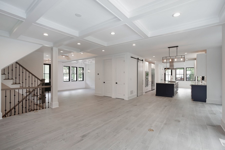 Huge Open Dining Room and Kitchen